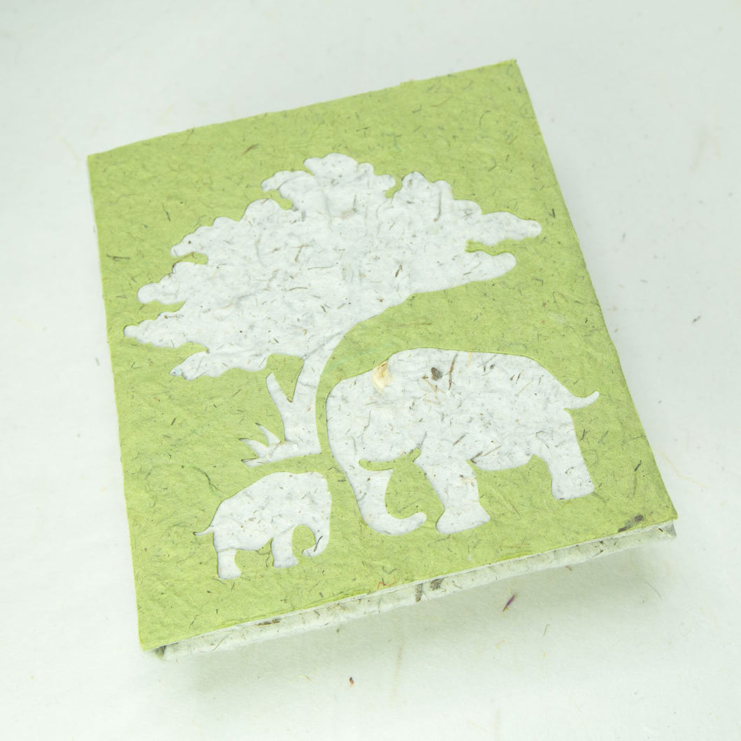 Eco-Friendly, Tree-Free, Classic Elephant POOPOOPAPER - Mom & Baby Journal - Grass - Front