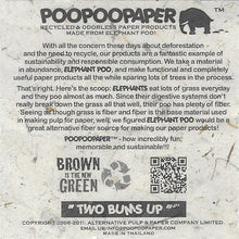 Load image into Gallery viewer, Eco-Friendly, Tree-Free, Sustainable, Organic Elephant POOPOOPAPER - Our Story