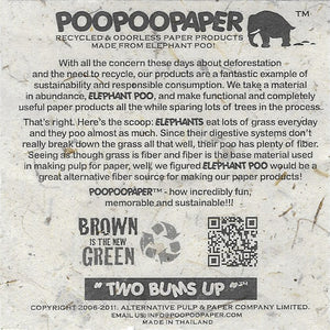 Made With Real Poo! - Elephant - POOPOOPAPER - Brown - Scratch Pad (Set of 3)