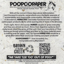 Load image into Gallery viewer, POOPOOPAPER - Eco-Friendly, Tree-Free, Sustainable Paper Made from Real Poo - Our Story