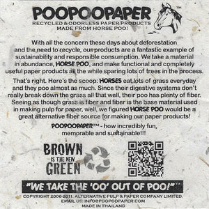 POOPOOPAPER - Eco-Friendly, Tree-Free, Sustainable Paper Made from Real Poo - Our Story