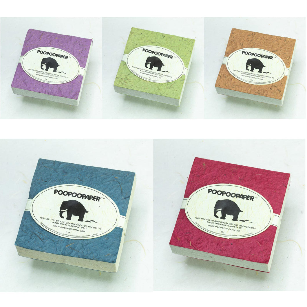 POOPOOPAPER Classic Scratch Pads - Set of Five
