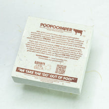 Load image into Gallery viewer, Eco-Friendly, Tree-Free POOPOOPAPER - Reminded Me of You - Cow Scratch Pad - Set of 3 -  Blue - Back