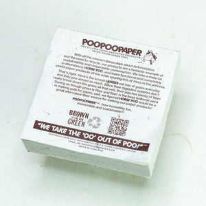 Eco-Friendly, Tree-Free POOPOOPAPER - Reminded Me of You - Horse Scratch Pad - Set of 3 -  Blue - Back