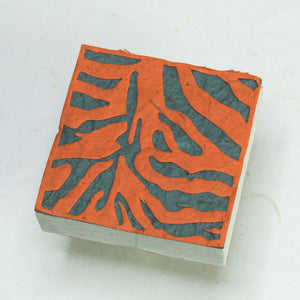 Jungle Safari Tiger - Eco-Friendly, Tree-Free Note Box and Scratch Pad Refill Set by POOPOOPAPER - Scratchpad