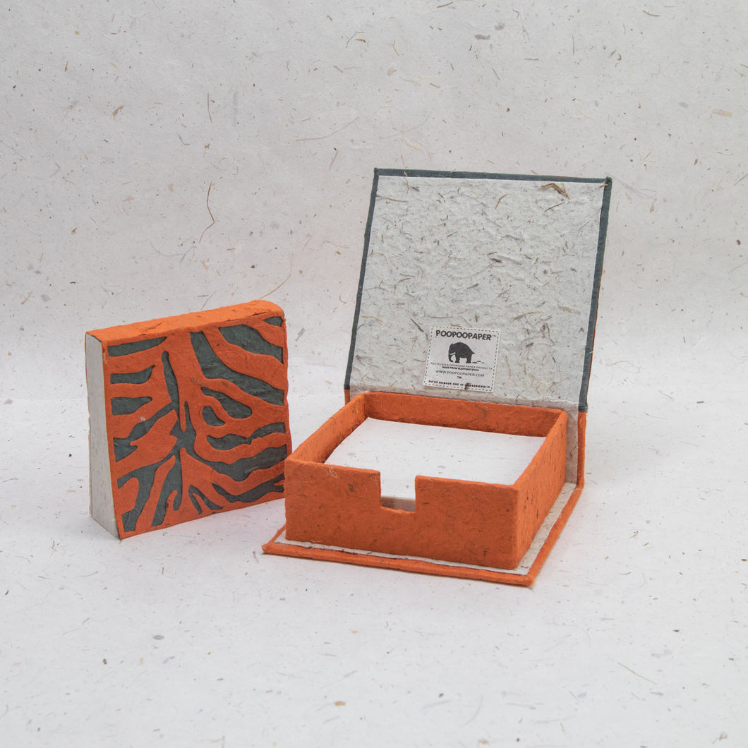 Jungle Safari Tiger - Eco-Friendly, Tree-Free Note Box and Scratch Pad Refill Set by POOPOOPAPER - Set
