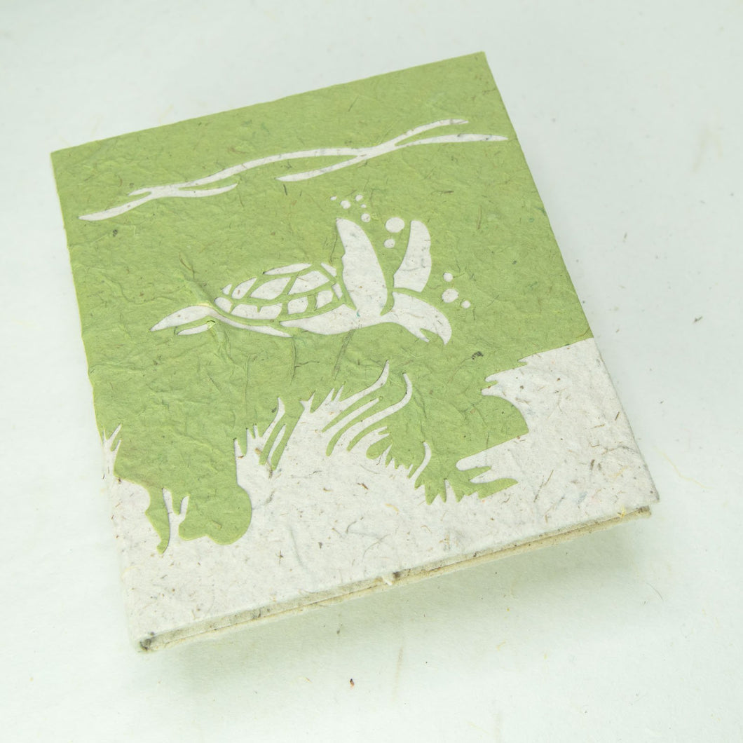 Sea-Life themed Sea Turtle Journal - Eco-Friendly, Tree-Free - POOPOOPAPER - Front