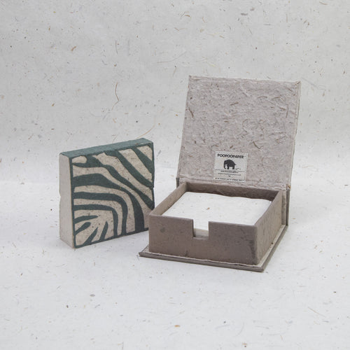 Jungle Safari Zebra - Eco-Friendly, Tree-Free Note Box and Scratch Pad Refill Set by POOPOOPAPER -  Set