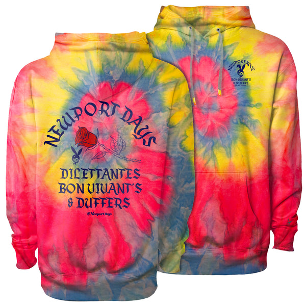 Dilettantes Bon Vivants & Duffers Dawn Patrol Tie Dye Hooded Sweatshirt