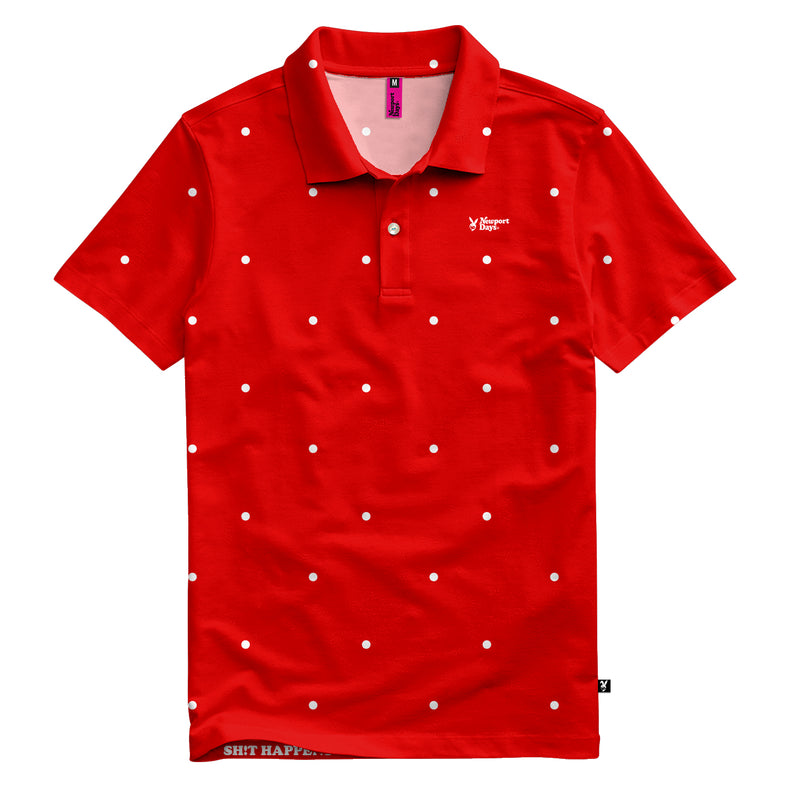Polka Dot Newport  Days Tour Cut Polo Sport