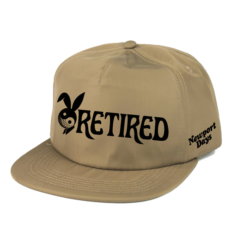 """Retired"" Newport Days Satin Snapback [3D Embroidery]"