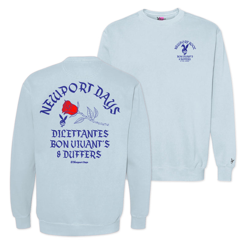 Dilettantes Bon Vivants & Duffers Après Golf Garment Dyed Crewneck Sweatshirt