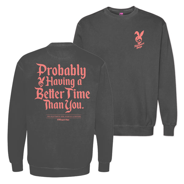 Better Time Après Golf Garment Dyed Crewneck Sweatshirt