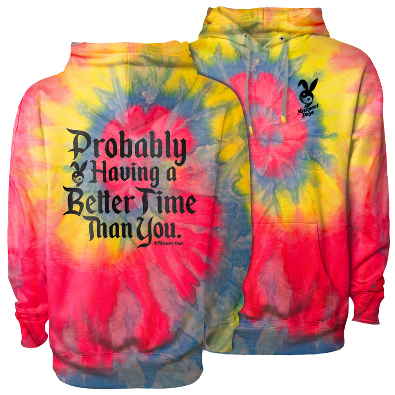 Better Time Dawn Patrol Tie Dye Premium Hooded Sweatshirt