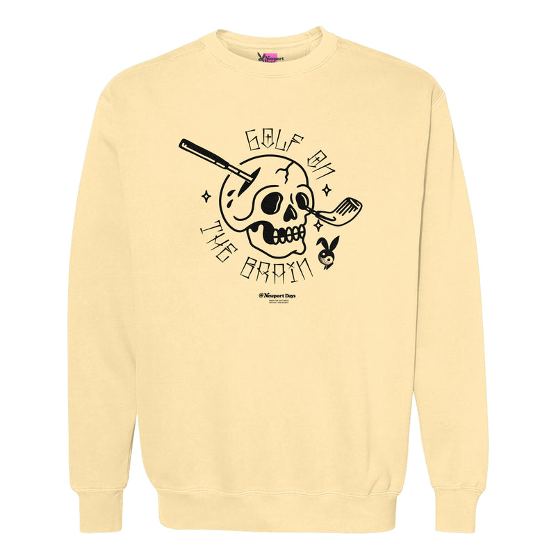 GOLF ON THE BRAIN! Garment Dyed Crewneck Sweatshirt