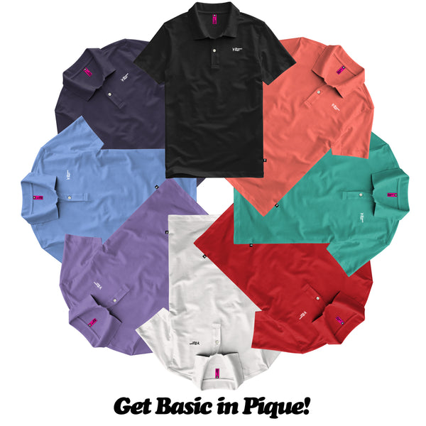 Get Subtle! -  Basic Piqué Newport Days Tour Cut Polo