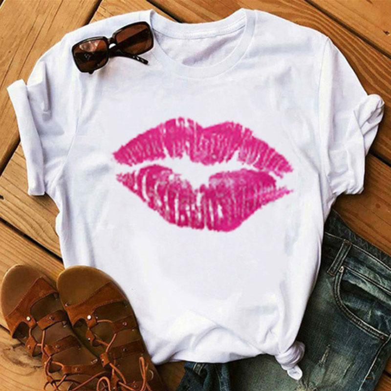 Simple Printed White T-shirt