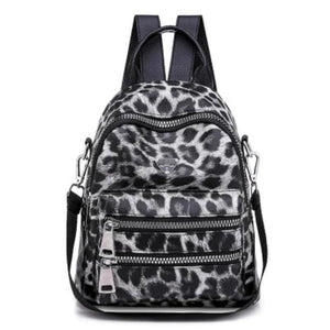 Women Leopard Pattern Backpack Bag