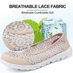 Load image into Gallery viewer, Women's Lace Screen Breathable Net Flat Shoes