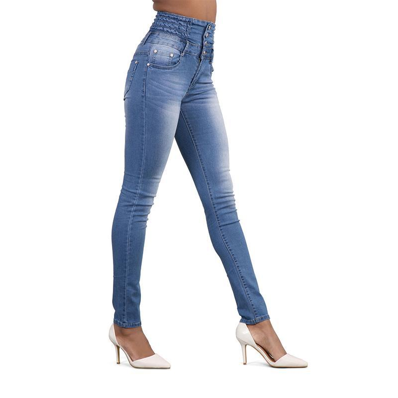 Sexy high-rise slim-fit jeans