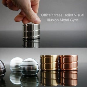 Office Stress Relief Visual Illusion Metal Gyro