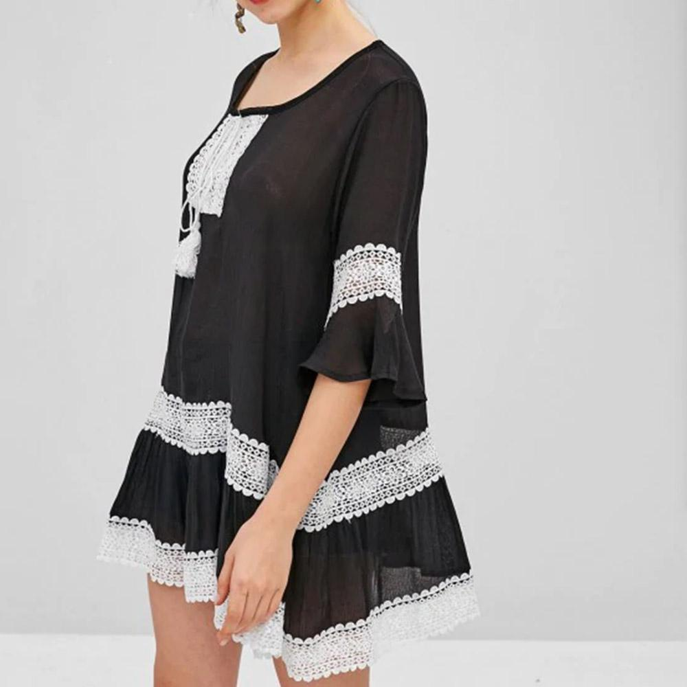 Lace Panel Tunic Dress