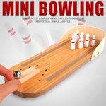 Load image into Gallery viewer, Indoor Wooden Mini Bowling Game Set