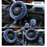Load image into Gallery viewer, Solid Colour Warm Fluffy Wool Car Set