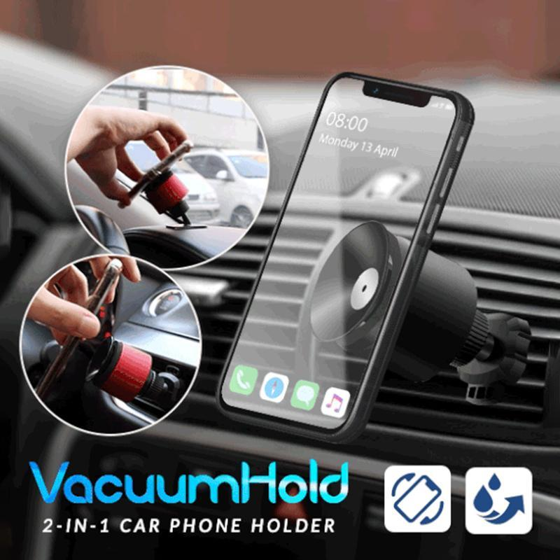 2-in-1 Vacuum Hold Car Phone Holder