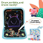 Load image into Gallery viewer, Portable Erasable Doodle Pad Drawing Pad (12 Pens Included)