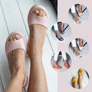 Peep Toe Flat Chic Sandals