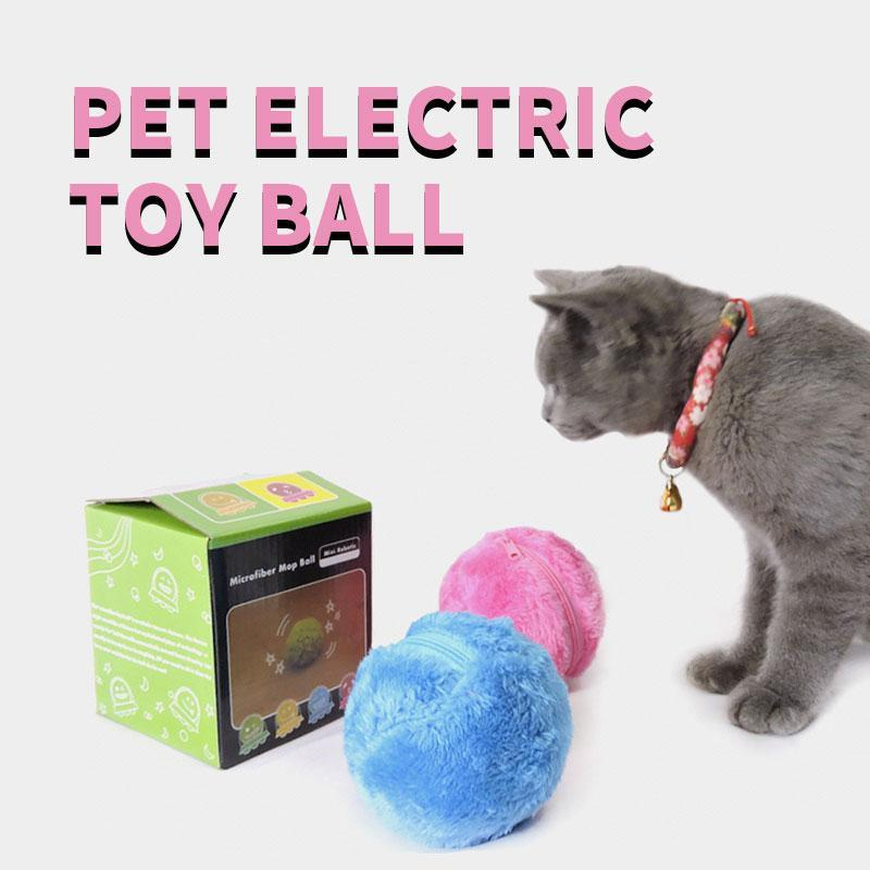 Pet Electric Ball Toy with Plush Cover