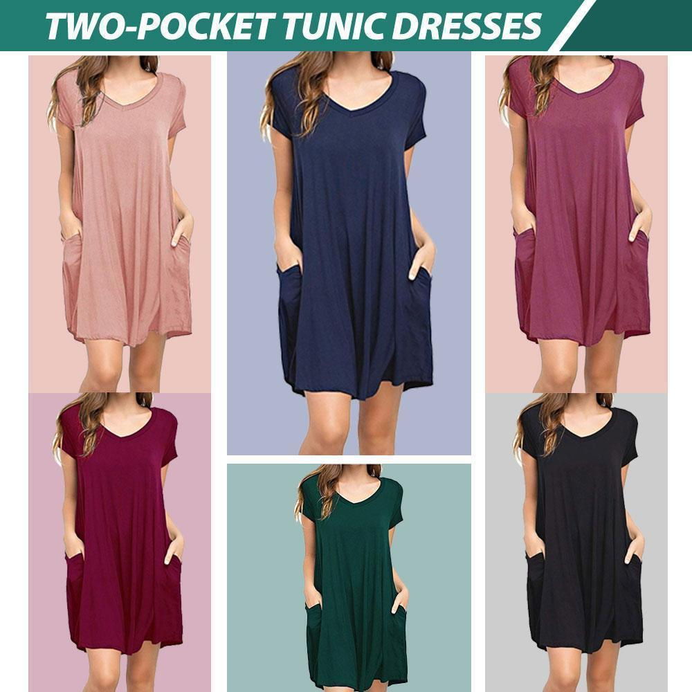 Two-Pocket Tunic Dresses