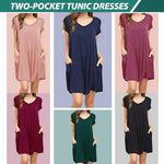Load image into Gallery viewer, Two-Pocket Tunic Dresses