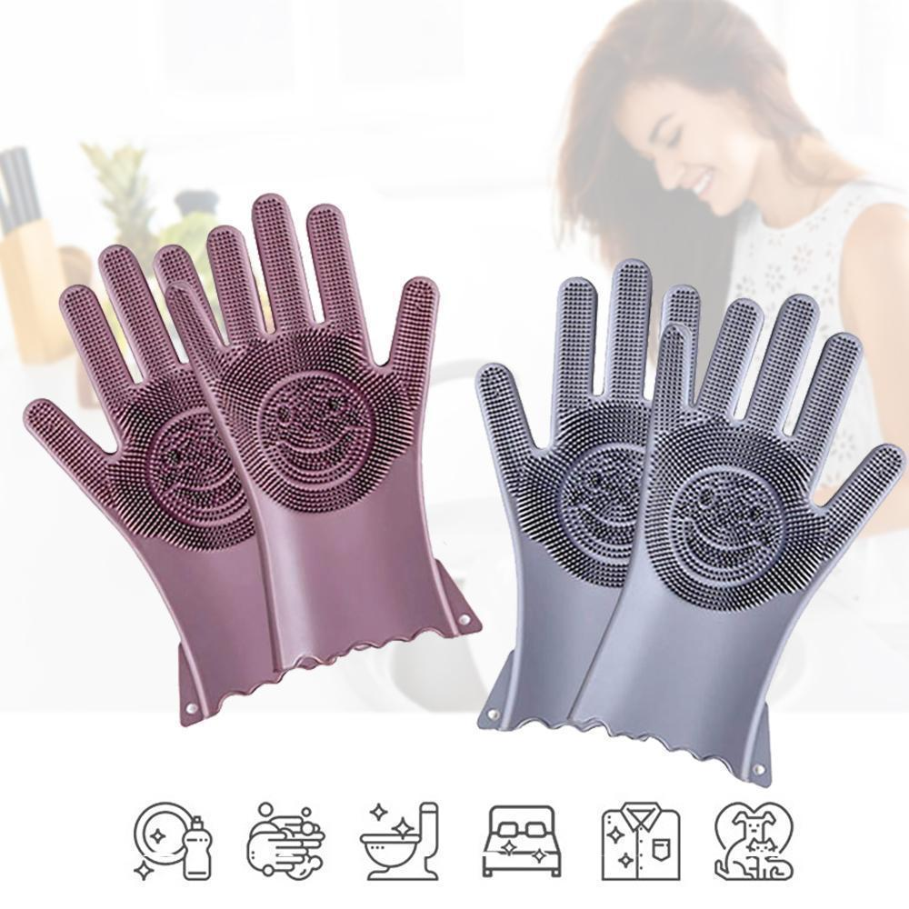 Multi-functional Silicone Decontamination Non-stick Oil Cleaning Gloves (1 pair)