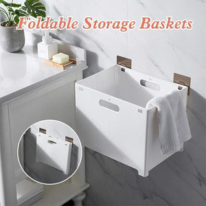 Punch-Free Folding Storage Basket