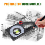 Load image into Gallery viewer, Slope Horizontal Vertical Angle Bevel Protractor Declinometer
