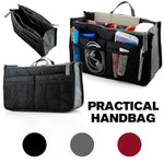 Load image into Gallery viewer, Women's Bag Practical Handbag Purse Nylon Dual Organizer Insert Cosmetic Storage