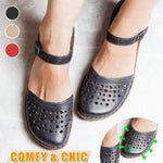 Load image into Gallery viewer, Women Round Toe Hollow-out Summer Sandals