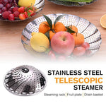 Load image into Gallery viewer, Stainless Steel Telescopic Steamer