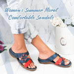 Load image into Gallery viewer, Women's Summer Floral Comfortable Sandals