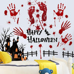 Load image into Gallery viewer, Halloween blood hand footprints wall stickers
