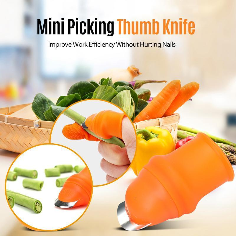 Gardening Thumb Knife Finger Gloves