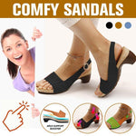 Load image into Gallery viewer, Women Elegant Low Chunky Heel Comfy Sandals