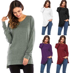 Load image into Gallery viewer, Women's Side Split Loose Casual Pullover Tunic Tops
