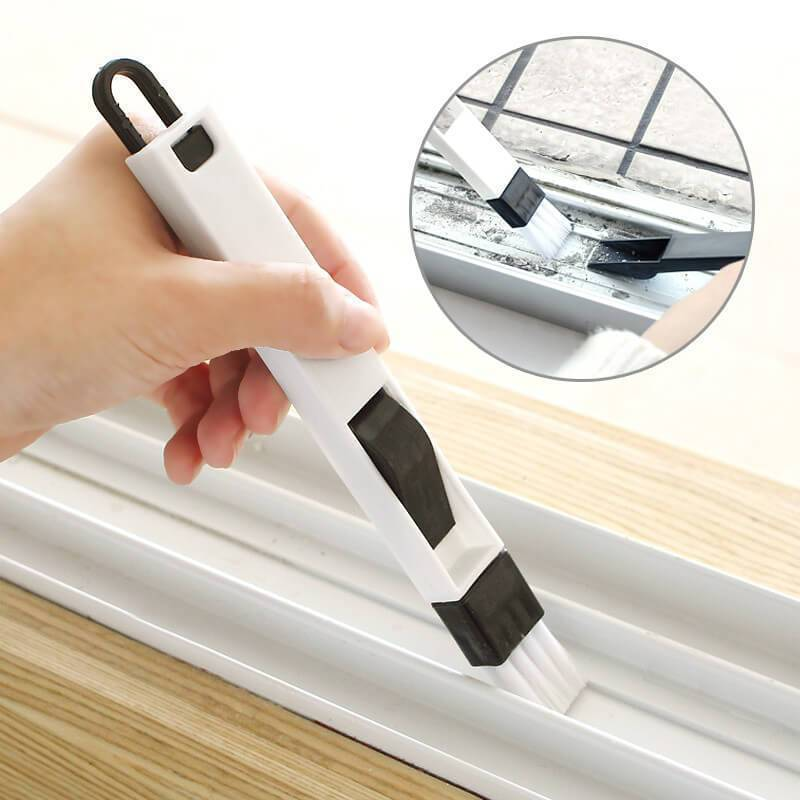 Window Track Cleaning Brushes with Dustpan