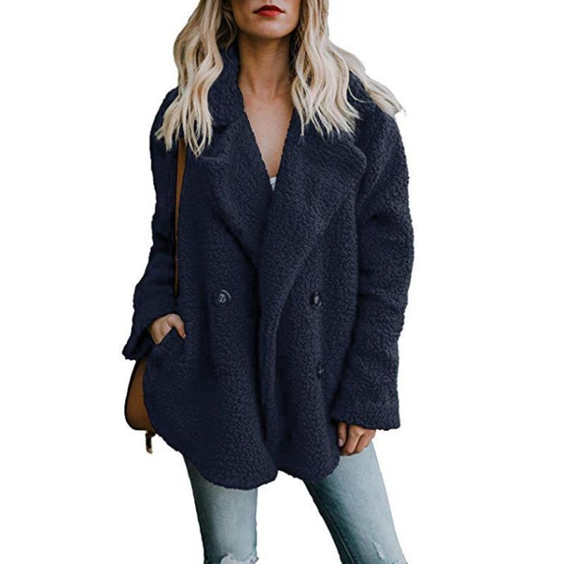 Warm Plush Coat Lapel Jacket
