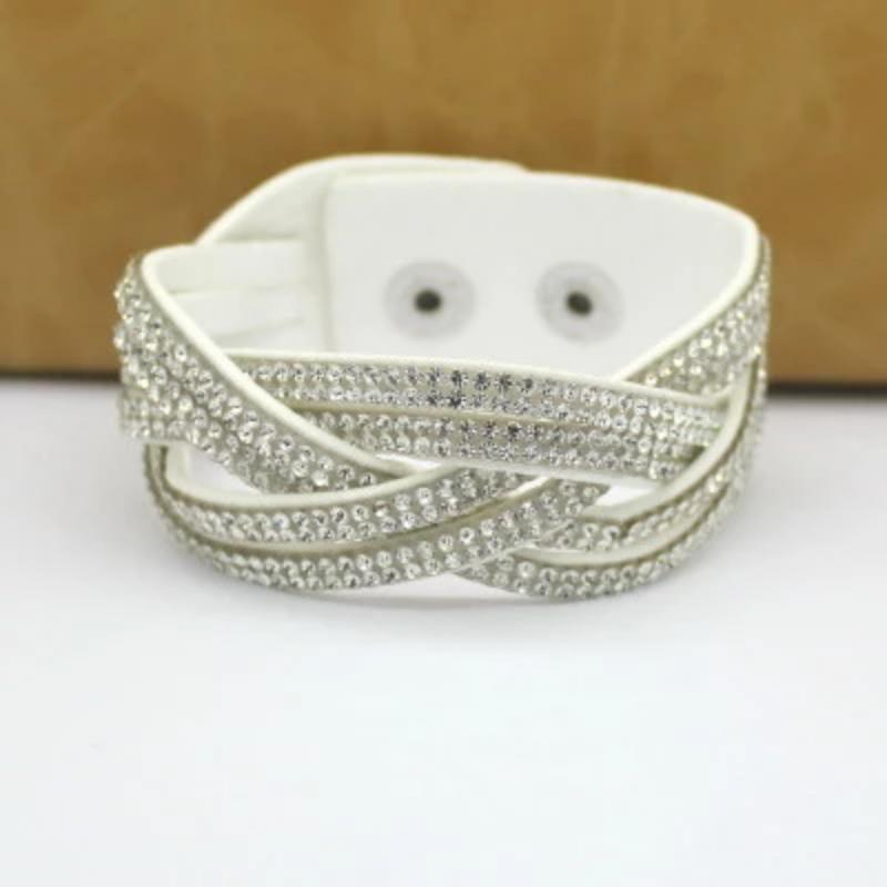 Women High Quality Rhinestone Wrap Charm Crystal Bracelet