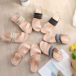 Load image into Gallery viewer, Summer Roman Flat Sandals