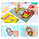 Load image into Gallery viewer, DIY Drawing Toys Cartoon Glue Tempera Painting
